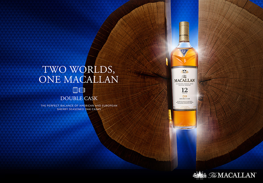 TWO WORLDS, ONE MACALLAN The MACALLAN HIGHLAND SINGLE MALT SCOTH WHISKY